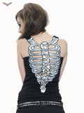 Queen of Darkness Black Top with Ribcage Bones  - 1