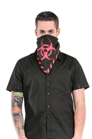 Red biohazard bandana