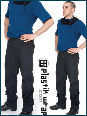 Plastik Wrap Compressor Trousers  - 1