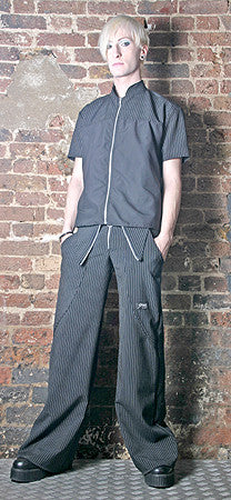 Pinstripe Trousers Cyberwaist Fishtail  - 1