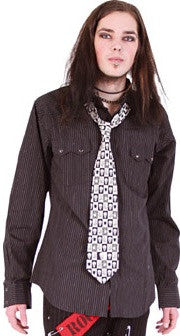 Queen of Darkness Pinstripe Shirt