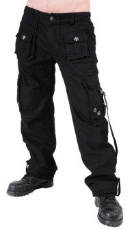 Queen of Darkness Black trousers. Big pockets and straps  - 1