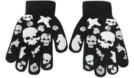 Many skulls gloves.