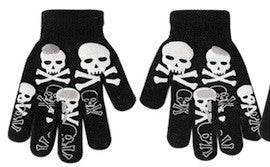 Skull gloves - white and black skulls
