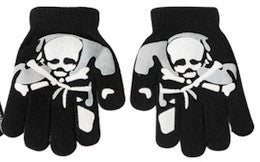 Skull gloves - single skull and crossbone