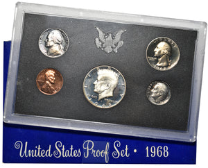 1968 US Mint Proof 5 Coin Set In Original Mint Packaging