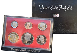 1980 United States Proof Set Coins