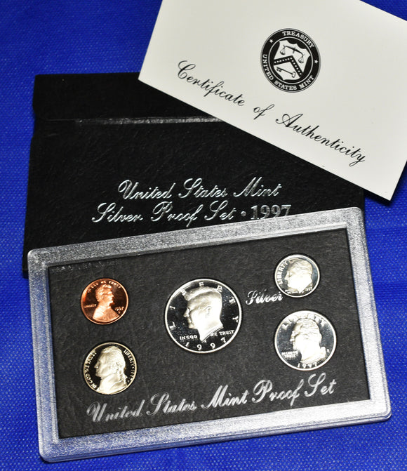 1997 US Silver Proof 5 Coin Set