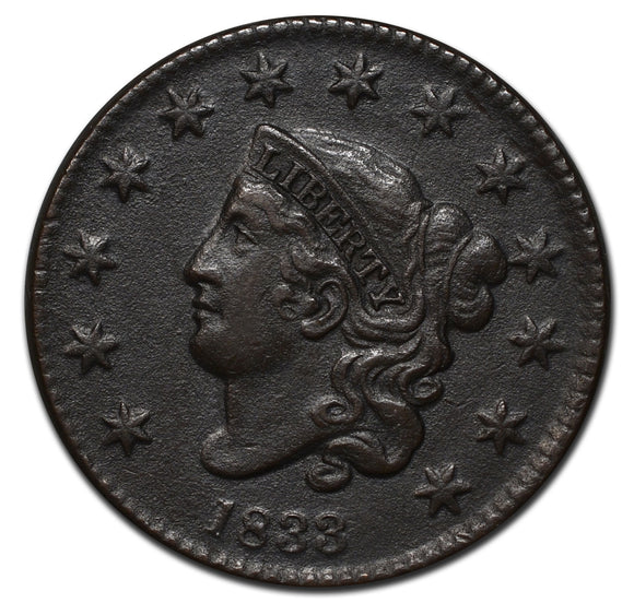 1833 Large Cent Coin