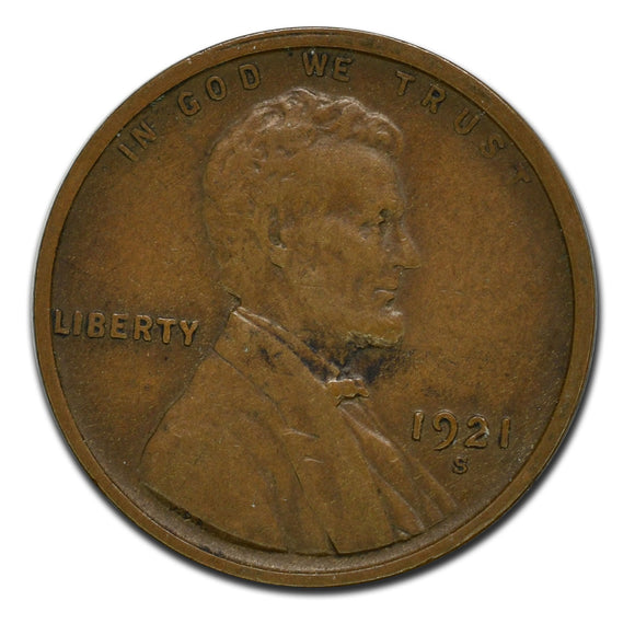 1921S Lincoln 1¢ Cent Coin
