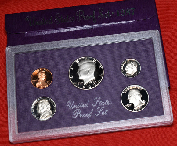 1987 US Mint Proof 5 Coin Set