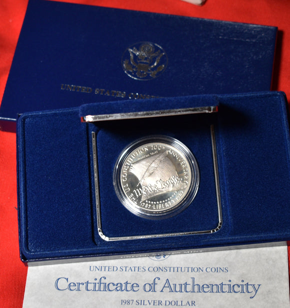 1987-S Constitution $1 Silver Dollar Commemorative Proof Coin