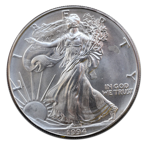 1994 American Silver Eagle .999 Fine 1 Ounce $1 Actual Coin