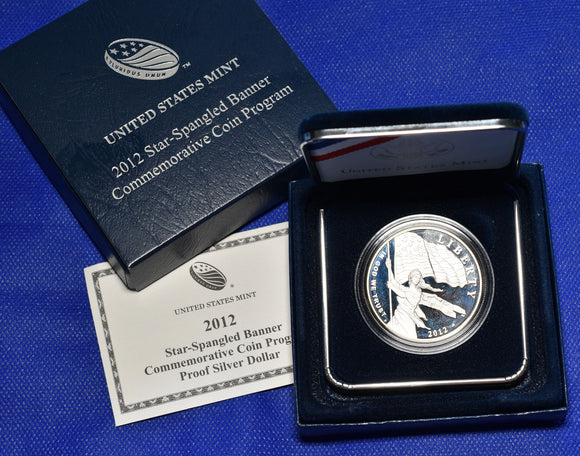 2012-P Star Spangled Banner $1 Silver Commemorative Proof Coin