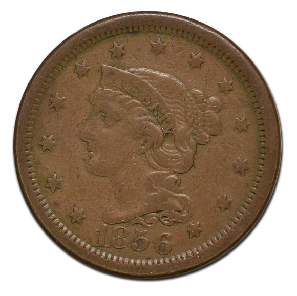 1856 Large 1¢ Cent Coin