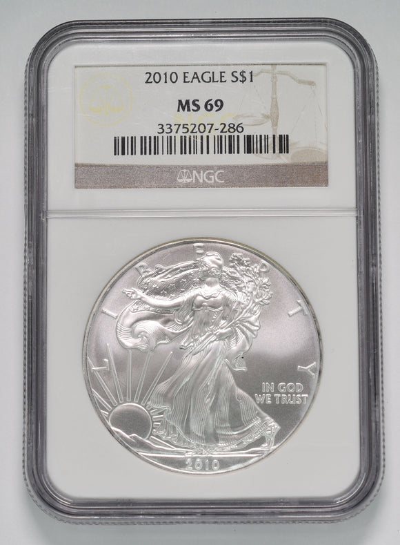 2010 American Silver Eagle NGC MS69 Coin