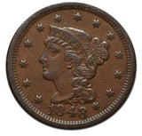 1848 Large Cent Coin Damaged Reverse
