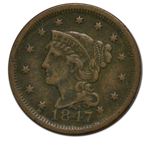 1847 Large 1¢ Cent Coin