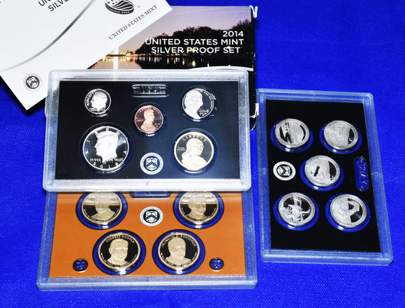 2014 United States Mint Silver Proof 14 Coin Set