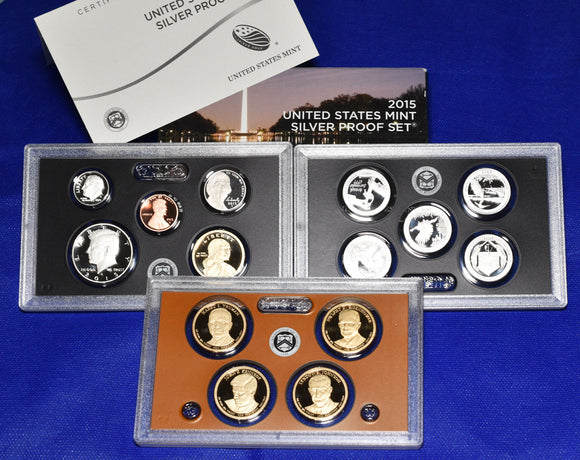 2015 United States Mint Silver Proof 14 Coin Set