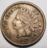 1863 Indian Head Cent Coin Full Liberty