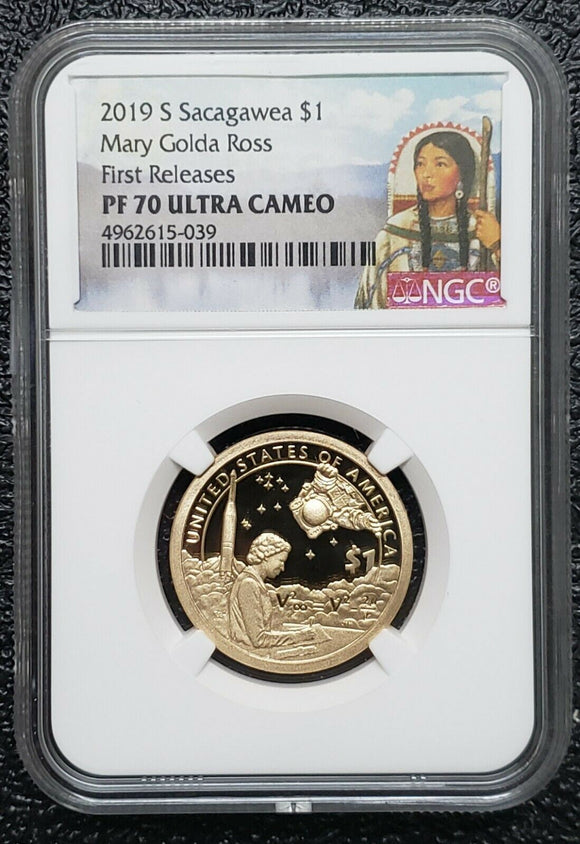 2019 S Sacagawea $1 Dollar Mary Ross NGC PF70 Ultra Cameo Coin First Releases