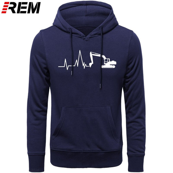 REM Mens CYCLINGer Cyclist Heartbeat  Mountain Road Bike Funny Bicycle Men Casual long Sleeve Chinese Style Hoodies, Sweatshirts