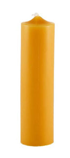 Honey Candles - 100% Pure Beeswax Candlesticks, 6 Inch Column