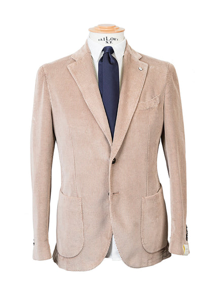 LBM dal 1911 Giacca Sartoriale Invernale Velluto Beige