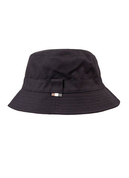 Aquascutum of London Cappello Pescatore Club Check Reversibile in Blu