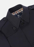 Aquascutum of London Trench Kirkman Sfoderabile Navy Blue - menINOUTfit.com  - 4