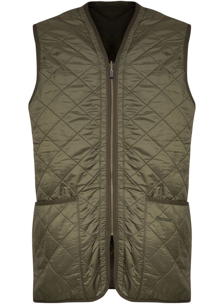 Barbour interno polarquilt verde smanicato riscaldo for Interno verde