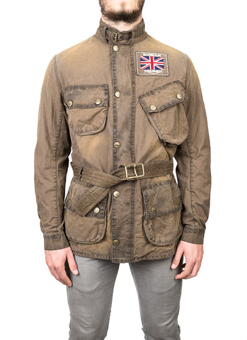 Barbour Giubbotto International Triumph Wax Steve McQueen