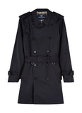 Aquascutum of London Navy Corby Blue Double-Breasted Raincoat - menINOUTfit.com  - 1