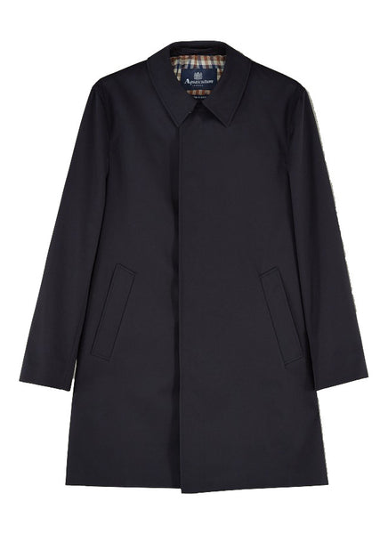 Aquascutum of London Trench Broadgate Navy Blu