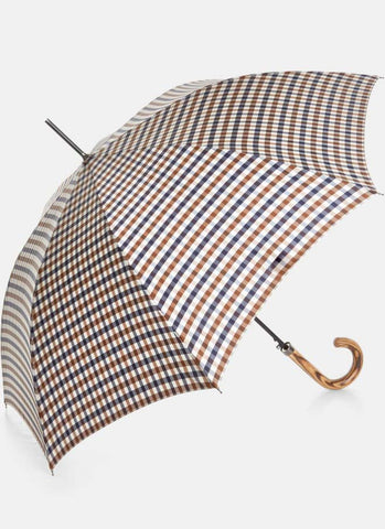 Aquascutum of London Ombrello Grande con Manico in Legno