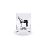 Double Old Fashioned Horse Glass