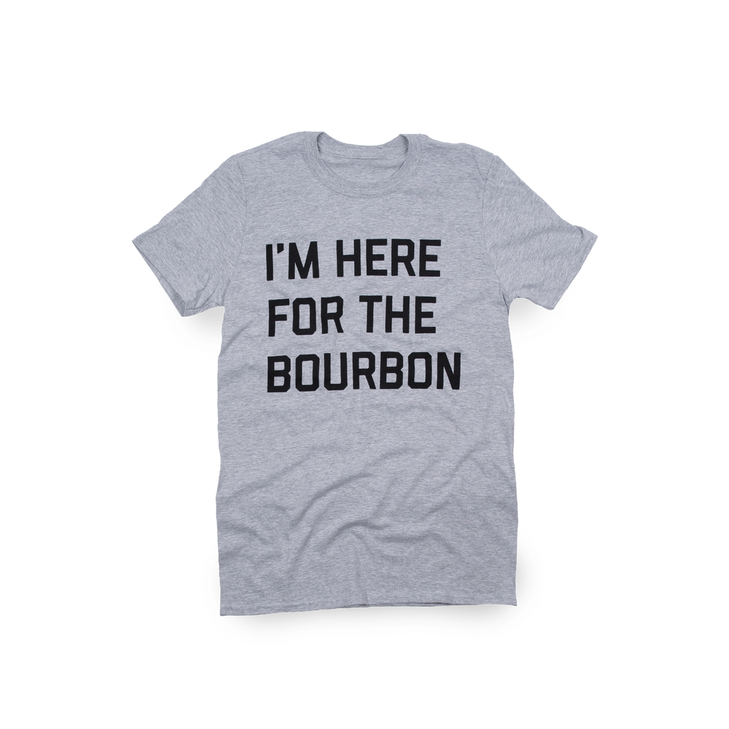 Here For The Bourbon Sport Grey