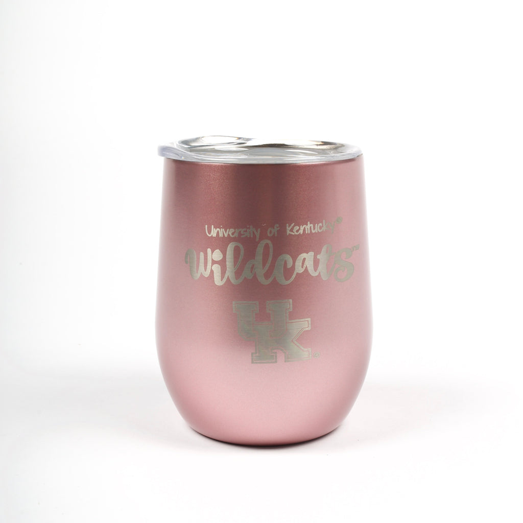 UK 10oz Wine Tumbler Rose