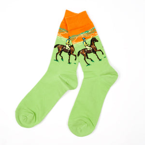 Horse Light Green Socks