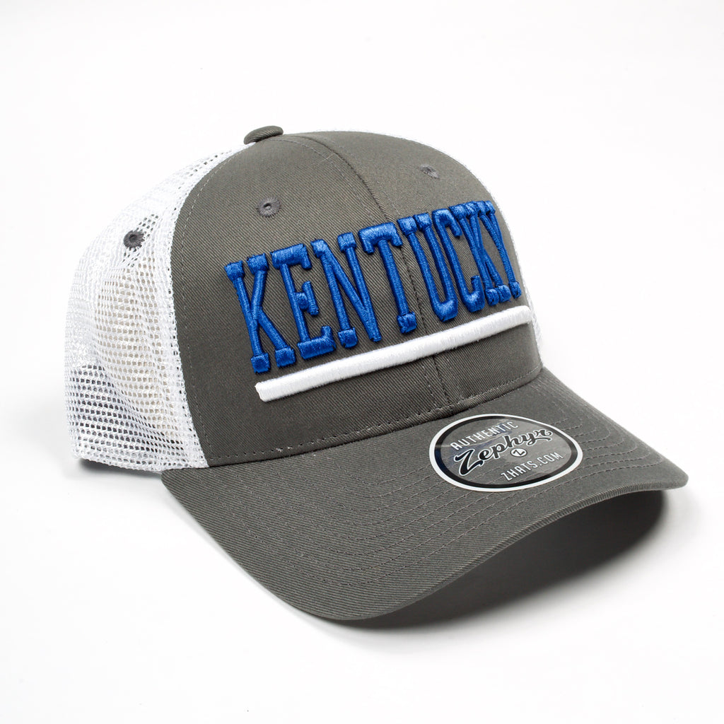 UK Curved Upfront Hat Grey