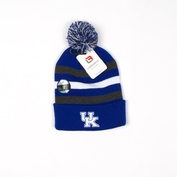 UK Halftime Youth Striped Knit Cuff Hat