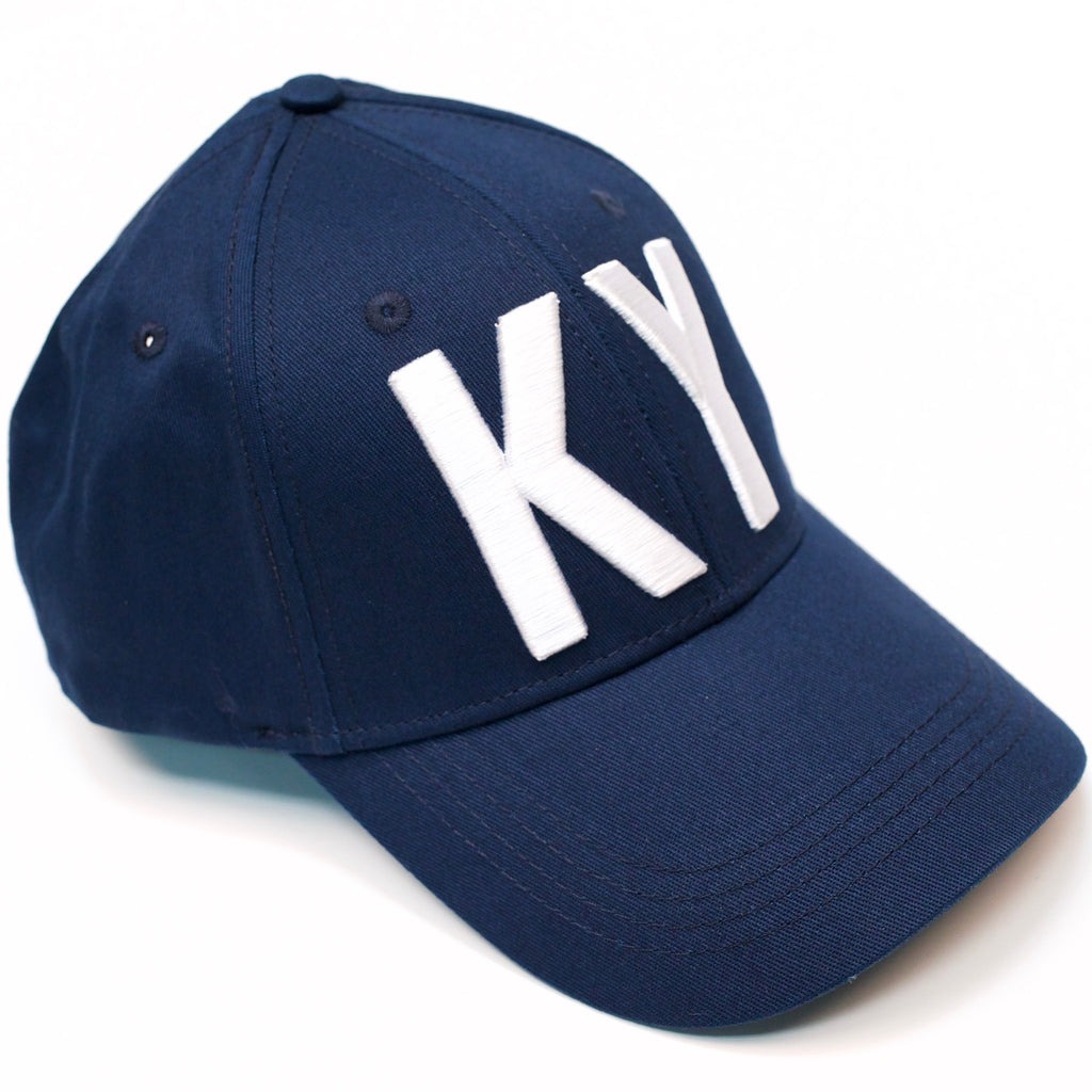 KY Navy Hat White