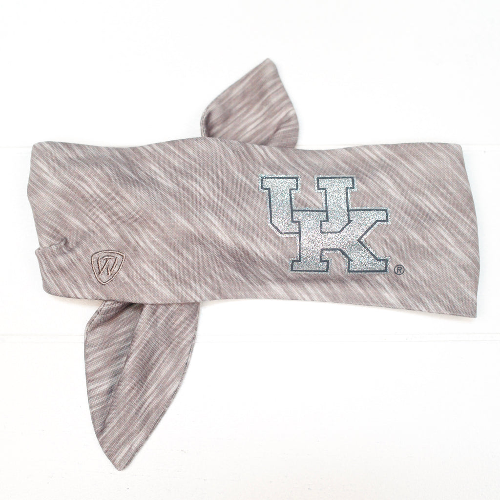 UK Sparkle Grey Athletic Headband