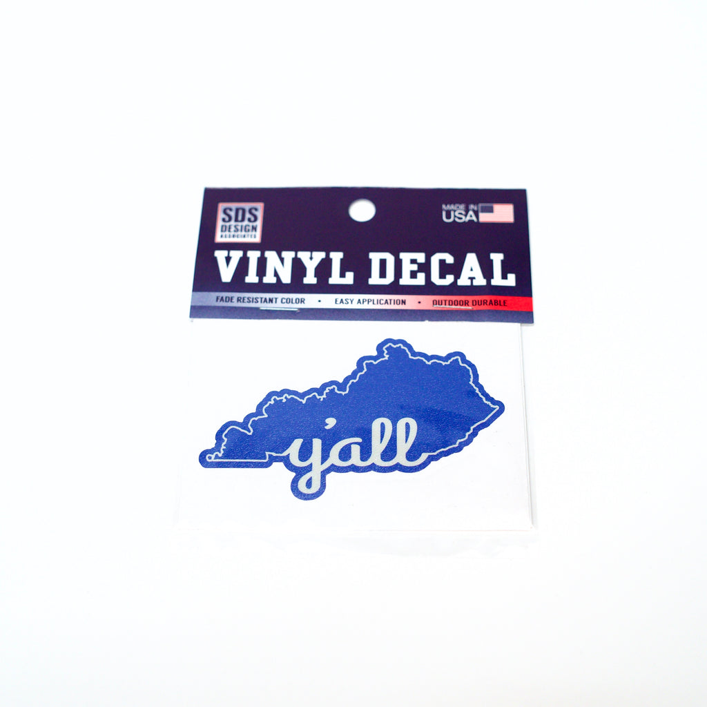 Y'all State 3 inch Vinyl Decal