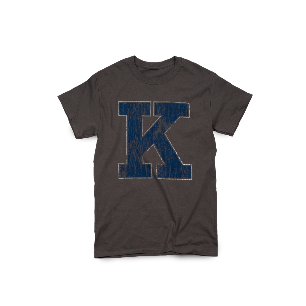 Distressed K Charcoal