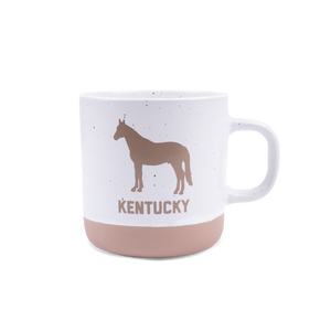 Ceramic Speckled Horse Mug
