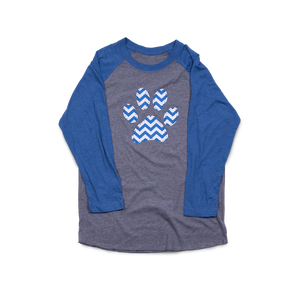 Paw Chevron Grey/Royal