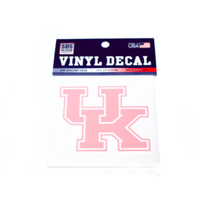 UK 3 inch Pink Interlock Decal