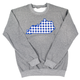 Plaid State Crew Grey